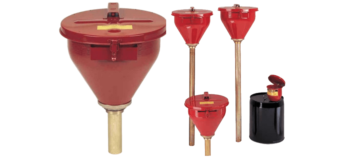 Funnels for steel cans